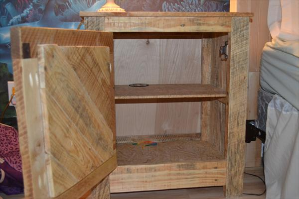 wooden pallet bedside table and nightstand
