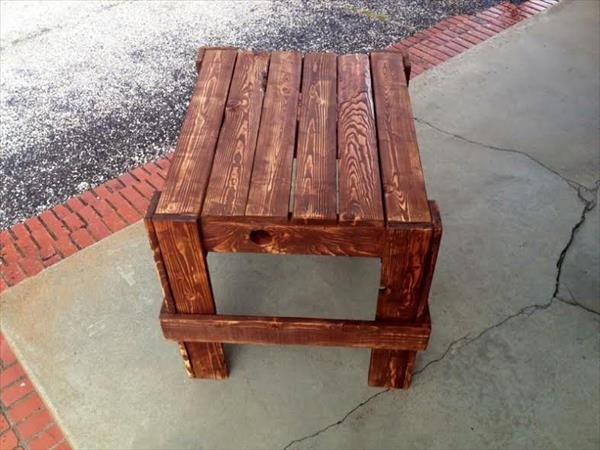 handcrafted pallet nightstand and side table