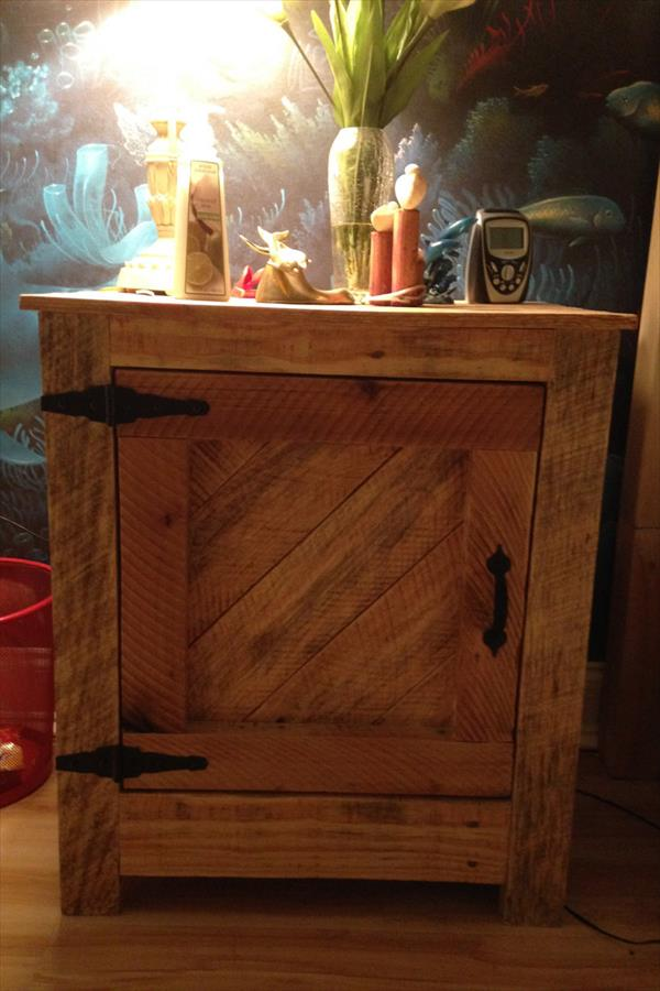 diy pallet nightstand and side table