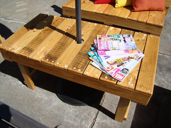 pallet rectangular coffee table