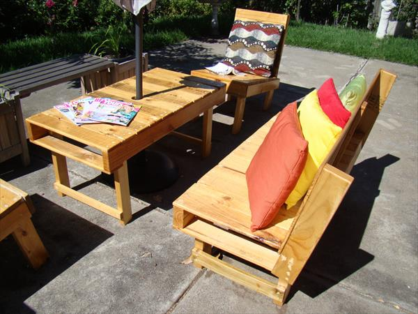 diy pallet rectangular coffee table