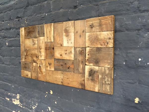 rustic wooden pallet wall art