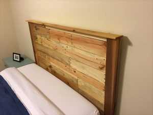 Upcycled Wood Pallet Headboard