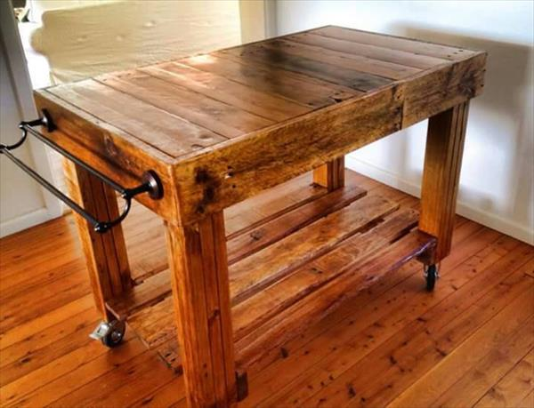 Pallet Kitchen Butcher Style Island Pallet Furniture Plans