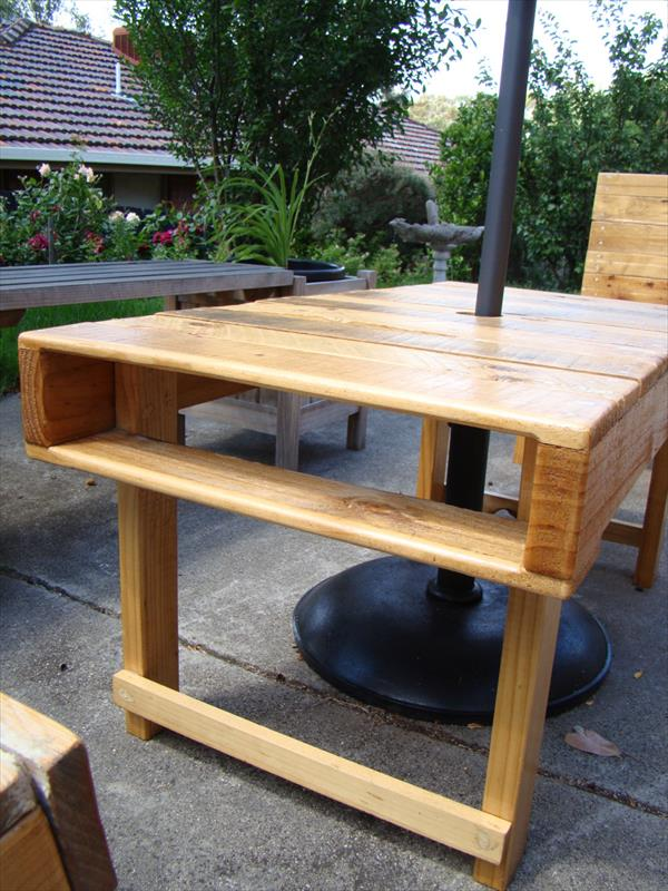 up-cycled pallet rectangular coffee table
