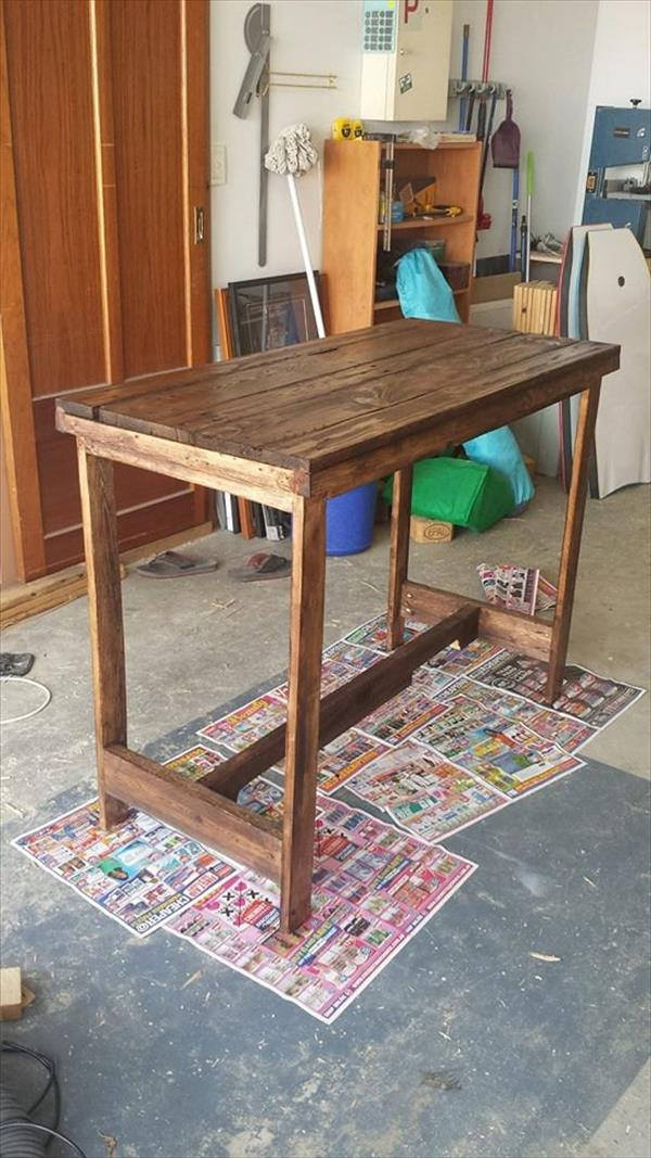 wooden pallet accent console table