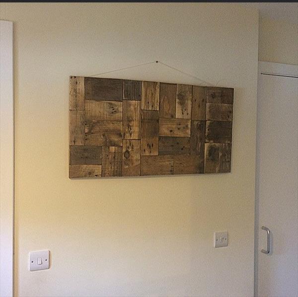handmade wooden pallet wall art