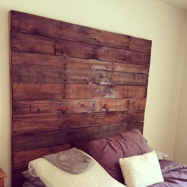 upcycled pallet king size headboard