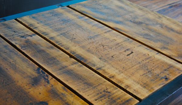 repurposed pallet industrial coffee table