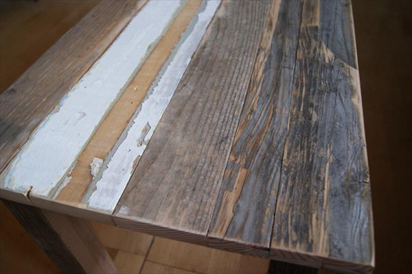 rustic handcrafted wooden pallet coffee table