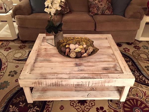 handmade vintage pallet coffee table
