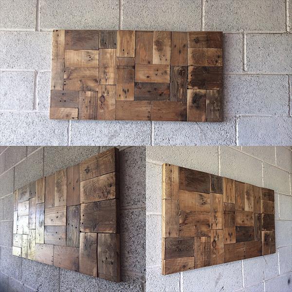 diy rustic wood pallet wall art