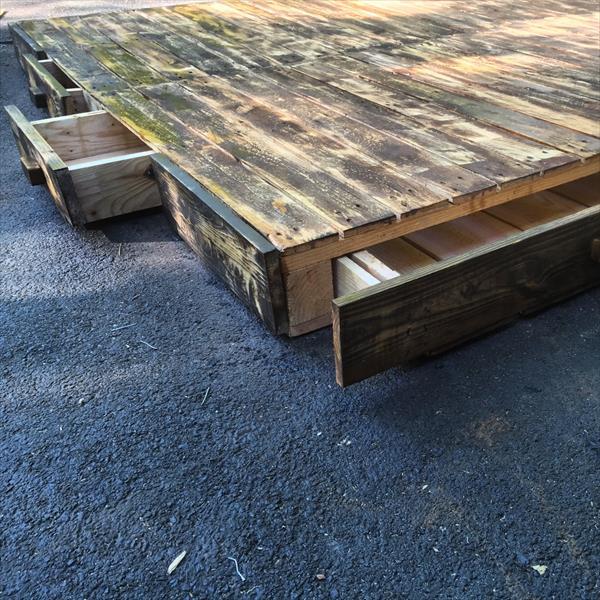 diy wooden pallet no-cost platform bed