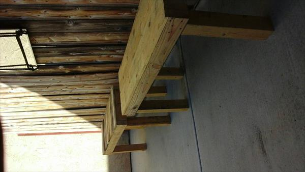 low cost wooden pallet outdoor benches