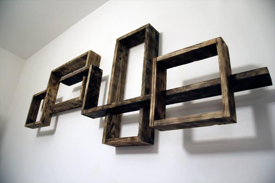 Decorative Pallet Wall Shelves Unit Pallet Furniture Plans