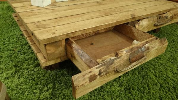 handmade low cost pallet coffee table