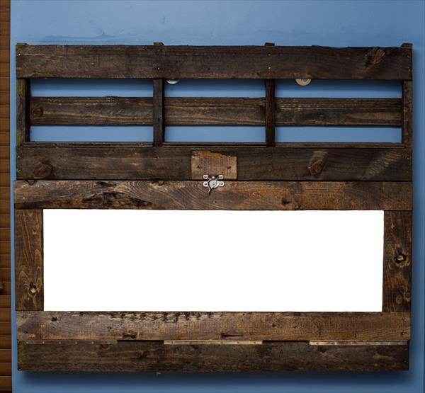 regained pallet wall hanging computer desk