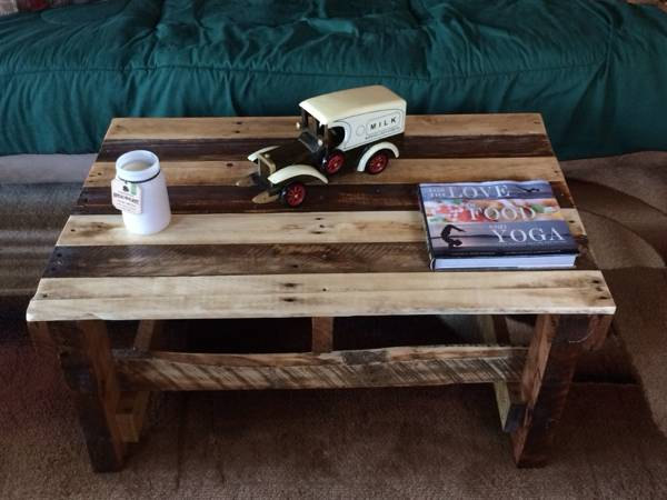 Wood Pallet Coffee Table ~ Pallet furniture plans diy projects ideas