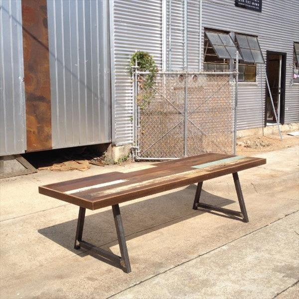 wooden pallet A-frame dining table
