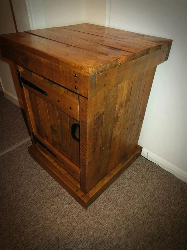 upcycled wooden end table and nightstand