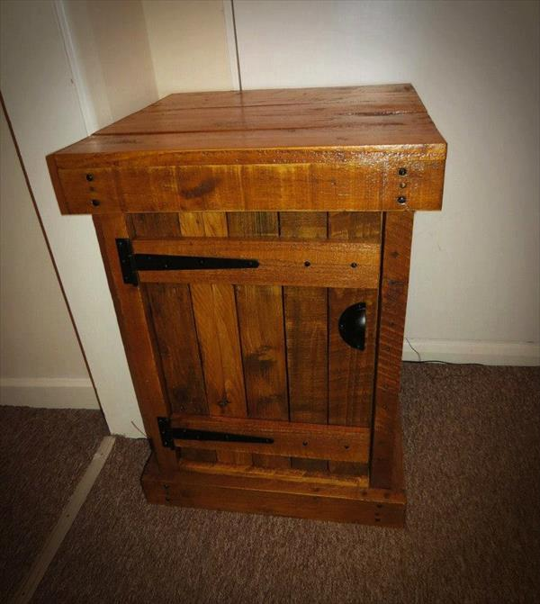 pallet nightstand/ end table | pallet furniture plans Night Stands Made from Pallets