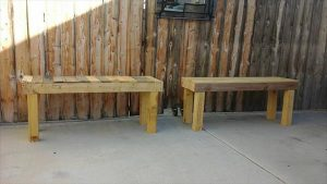 DIY Pallet Outdoor Benches