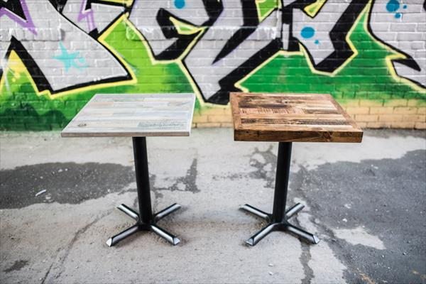pallet restaurant and coffee shop tables
