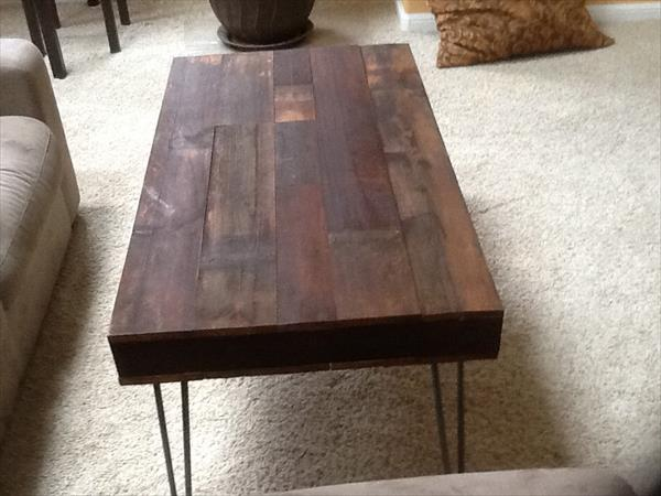 rustic pallet style coffee table