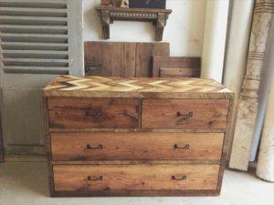 handmade wooden pallet chevron dresser