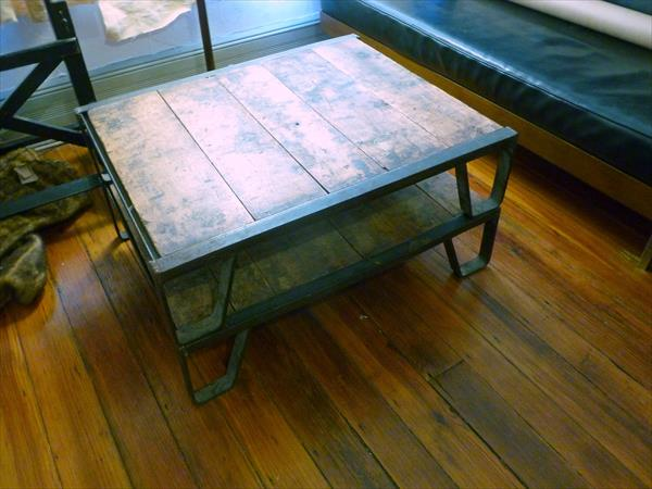 vintage pallet metal coffee table