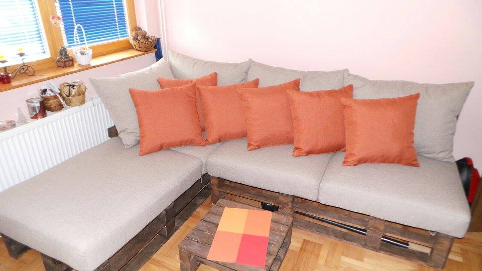 pallet corner sofa for living