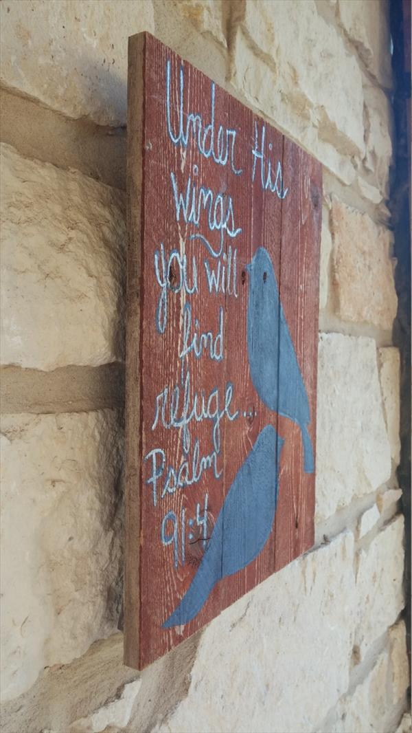 fanciful pallet bird wall art