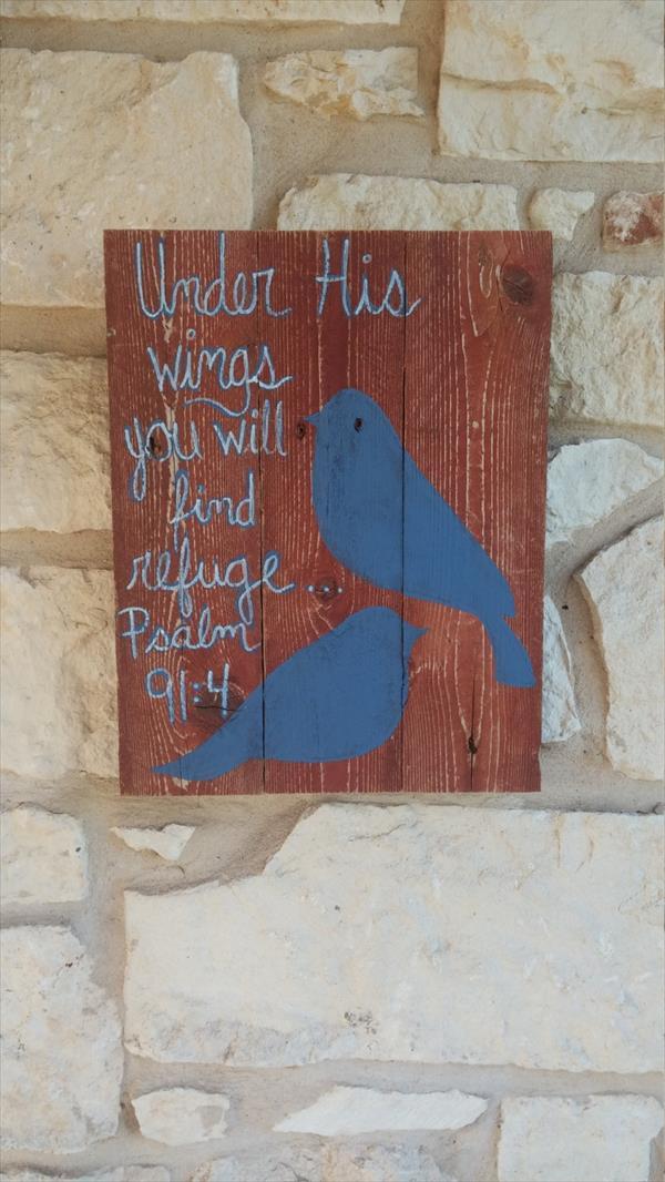 wooden pallet bird wall art
