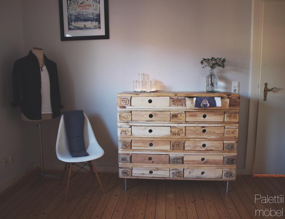 DIY Pallet Chest Of Drawers | Pallet Furniture Plans