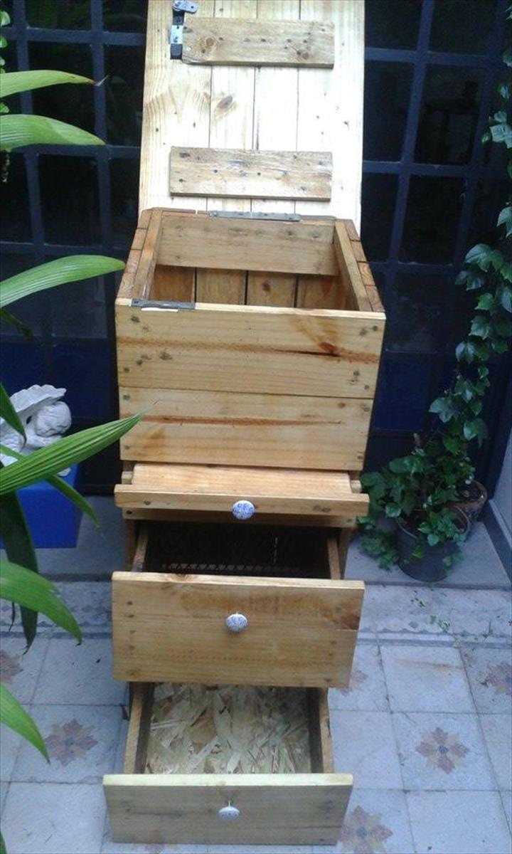 Wooden pallet compost