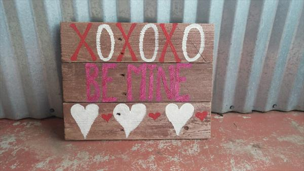 DIY pallet love sign or festival decor