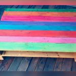 One Pallet Rainbow Coffee Table