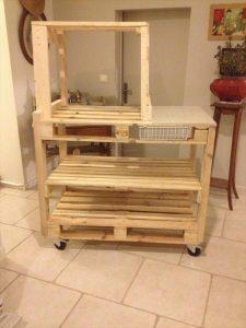 Pallet Storage Organizer Trolley!