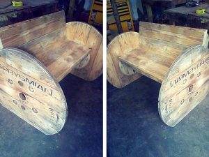 DIY Pallet and Spool Chair