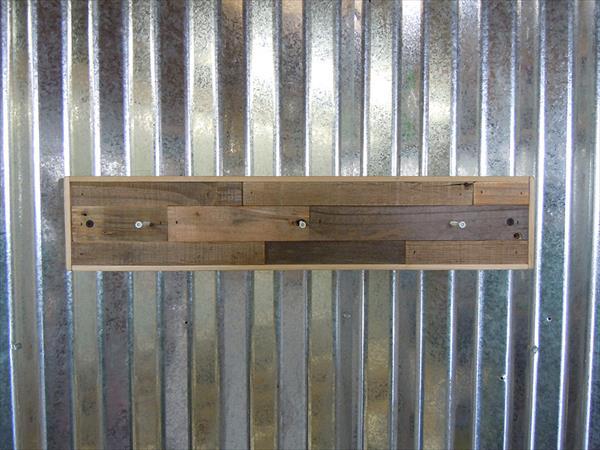 handcrafted wooden pallet coat rack