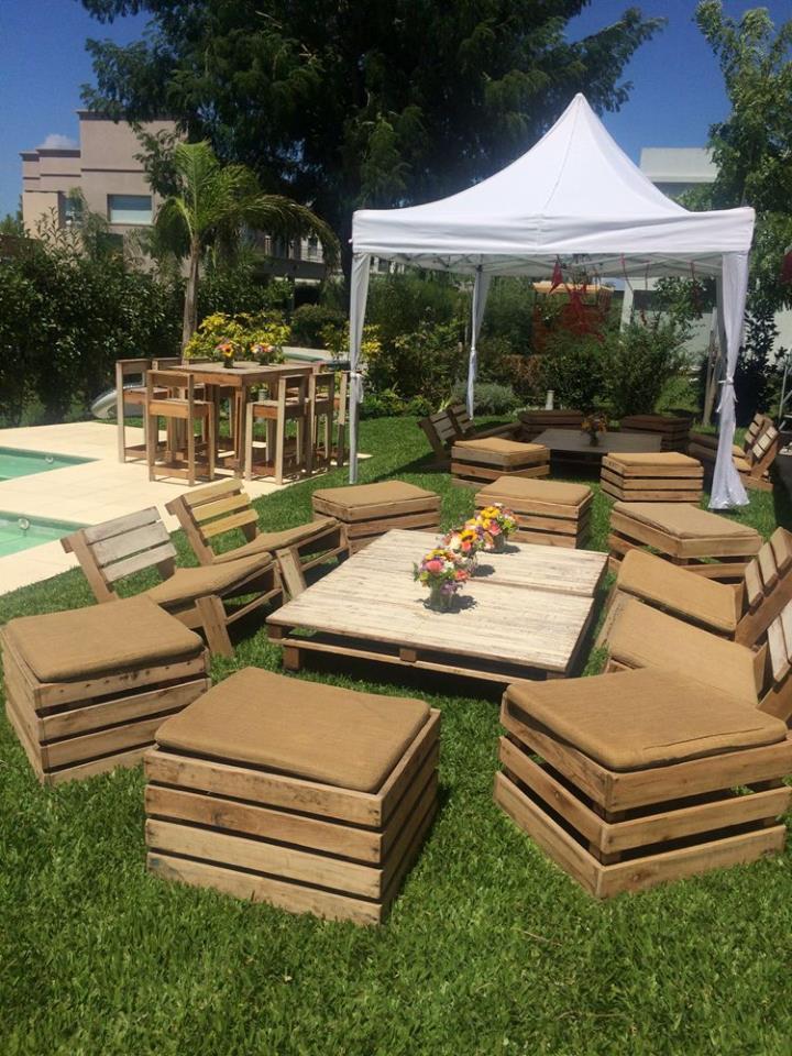 pallet garden seating