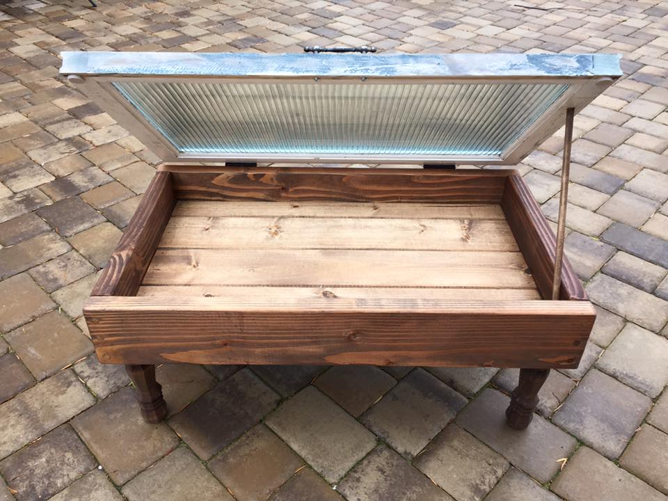Pallet Window Coffee Table