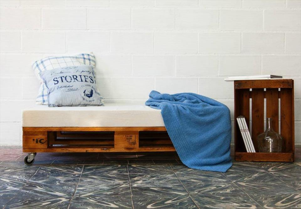 sturdy wooden cushioned seat