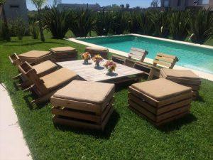 diy pallet garden seating