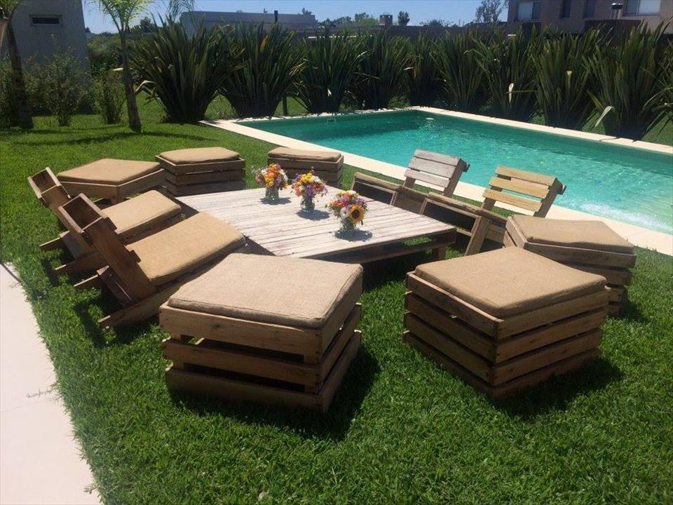Pallet Garden Seating Furniture Plans