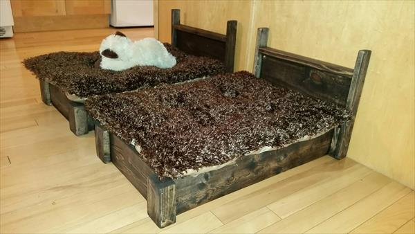 Upcycled Pallet Pet Beds