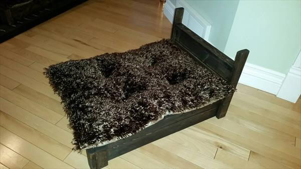 handcrafted wooden pallet pet bed