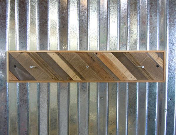 rustic wooden pallet coat rack