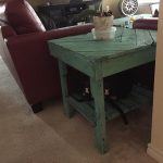 Wooden Pallet Chevron End Table