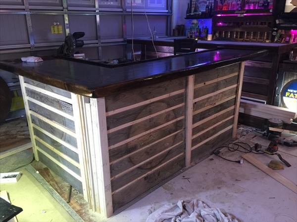 wooden pallet full size bar